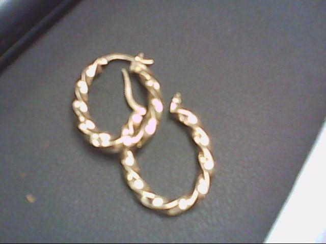Gold Earrings 18K Yellow Gold 2.8g