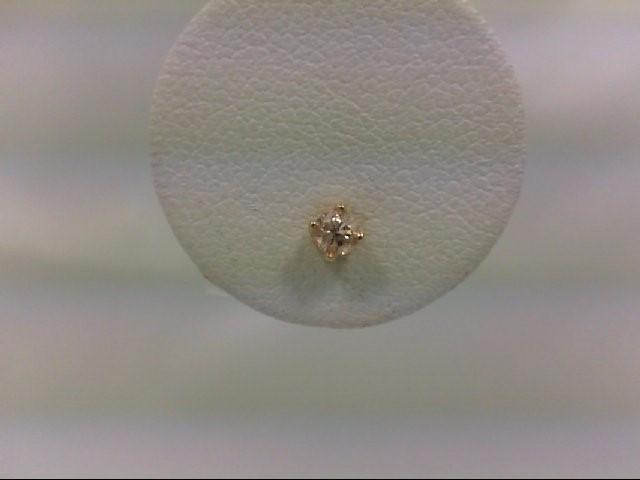 Gold-Diamond Earrings 0.07 CT. 14K Yellow Gold 0.3g