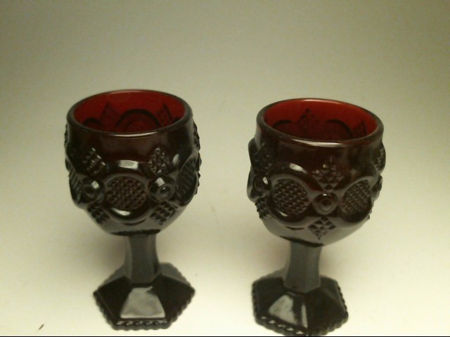 AVON Glassware RUBY RED GOBLETS AND JUICE GLASSES