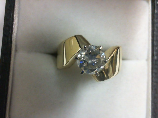 Lady's Diamond Solitaire Ring .75 CT. 14K Yellow Gold 5.1g
