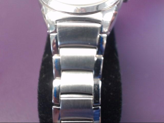 """BULOVA 25MM CRISP SILVER STEEL DATE WATCH 96M111 5"""""""