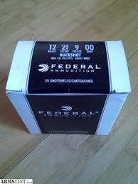 FEDERAL AMMUNITION Ammunition 12GA 00 BUCK 25 ROUNDS