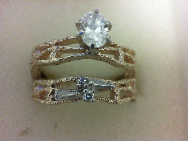 Lady's Diamond Wedding Set 5 Diamonds 0.56 Carat T.W. 14K Yellow Gold 6.5g