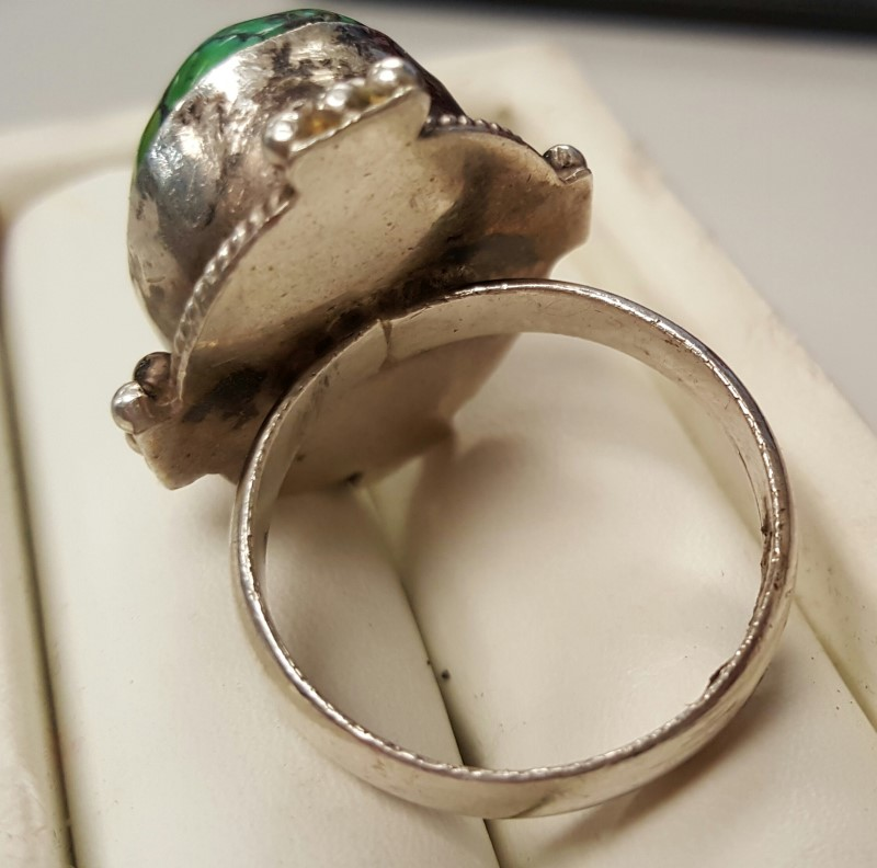 Antique Lady's Silver Ring 925 Silver 19.8g Size:12