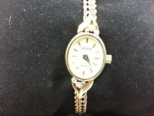 CROTON Lady's Wristwatch LADIES WRISTWATCH 10K Yellow Gold 9.3g