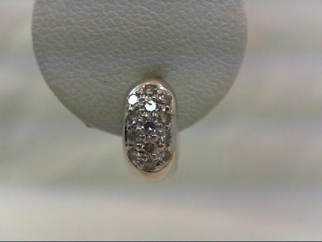 Gold-Diamond Earrings 26 Diamonds .26 Carat T.W. 18K White Gold 4.3g