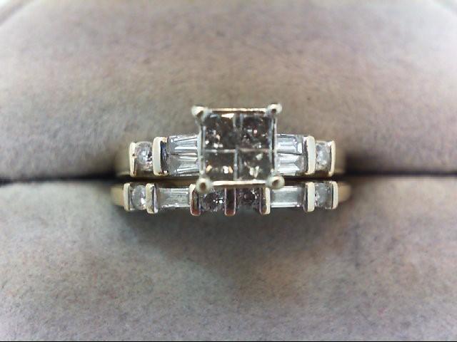 Lady's Diamond Wedding Set 14 Diamonds .54 Carat T.W. 14K Yellow Gold 4.1g