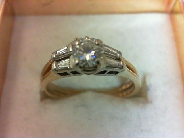 Lady's Diamond Wedding Set 7 Diamonds .50 Carat T.W. 14K Yellow Gold 2.98g