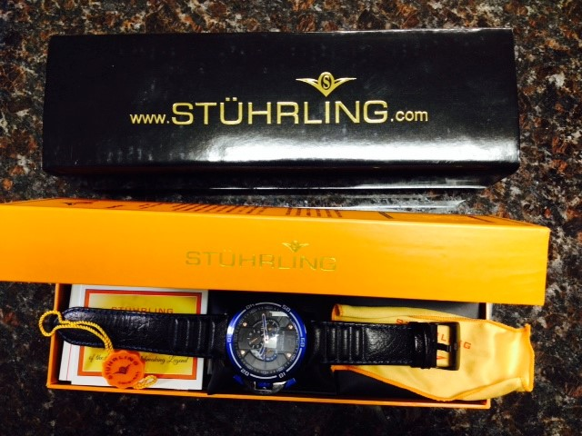STUHRLING Gent's Wristwatch KRYSTERNA CRYSTAL