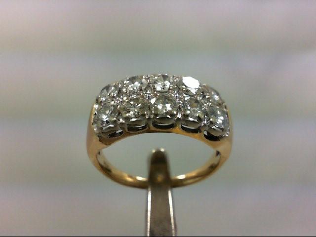 Lady's Diamond Wedding Band 10 Diamonds 1.00 Carat T.W. 14K Yellow Gold 5.1g