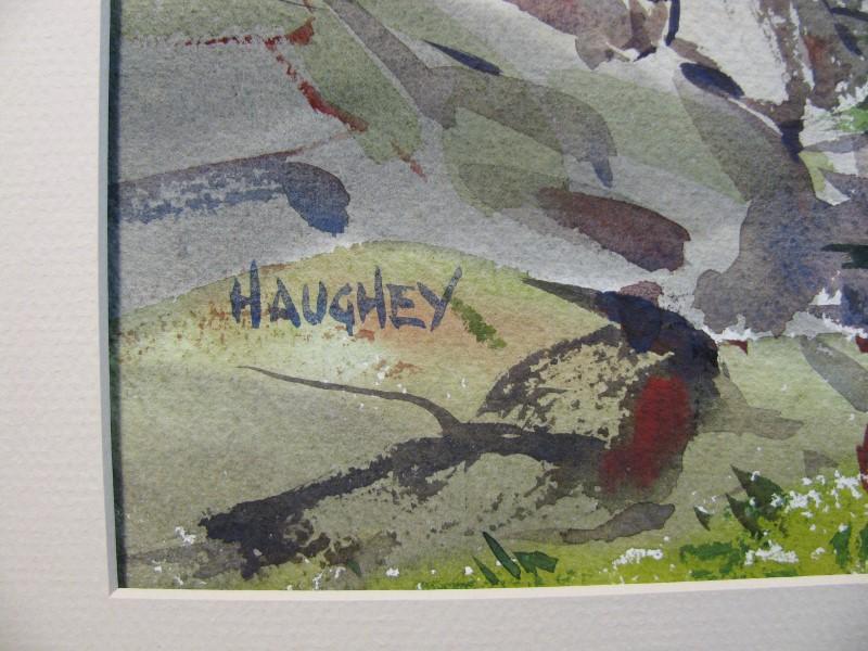 HAUGHEY Signed Print MOUNTAIN SCENE