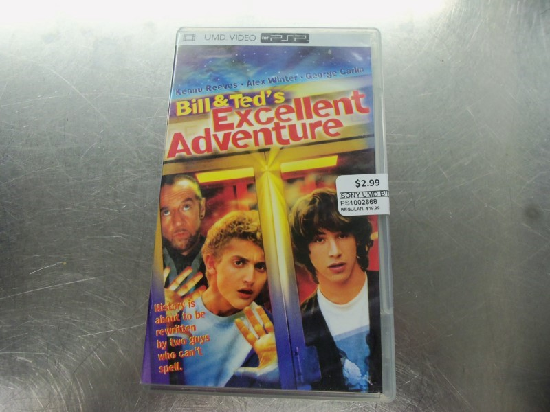 SONY UMD BILL & TED'S EXCELLENT ADVENTURE CASE & GAME