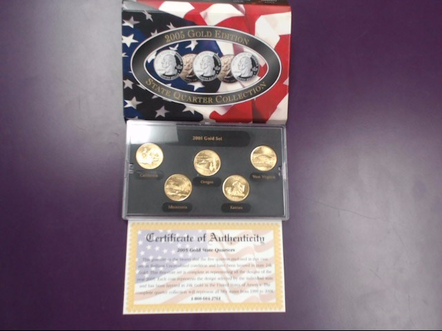 2005 GOLD EDITION STATE QUARTER COLLECTION