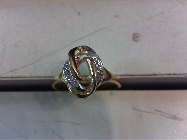 Lady's Diamond Cluster Ring 5 Diamonds .025 Carat T.W. 14K Yellow Gold 2.6g