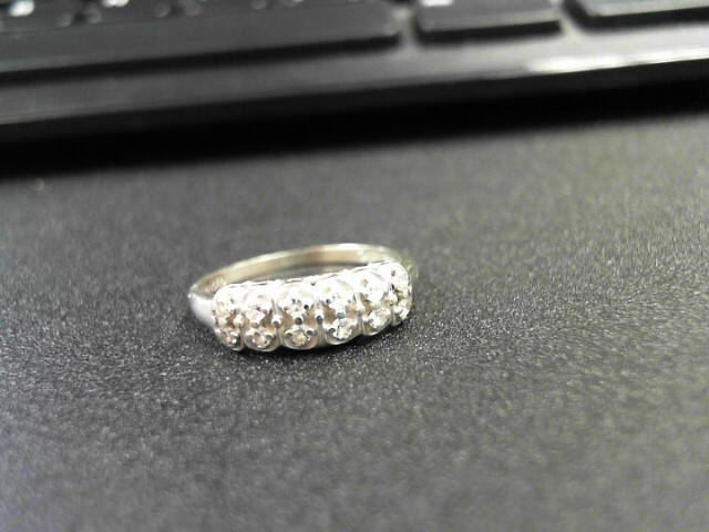 Lady's Diamond Fashion Ring 12 Diamonds 0.24 Carat T.W. 14K White Gold 2.6g
