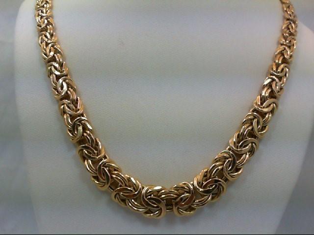 "17"" Gold Turkish Chain 14K Yellow Gold 16.4g"