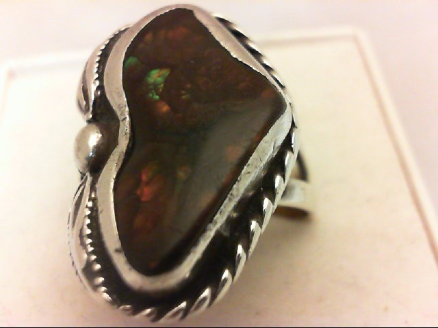 Opal Lady's Silver & Stone Ring 925 Silver 9.4g