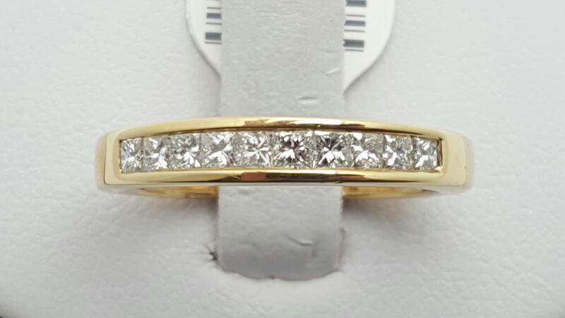 Lady's Gold-Diamond Anniversary Ring 10 Diamonds 0.5 Carat T.W. 14K Yellow Gold