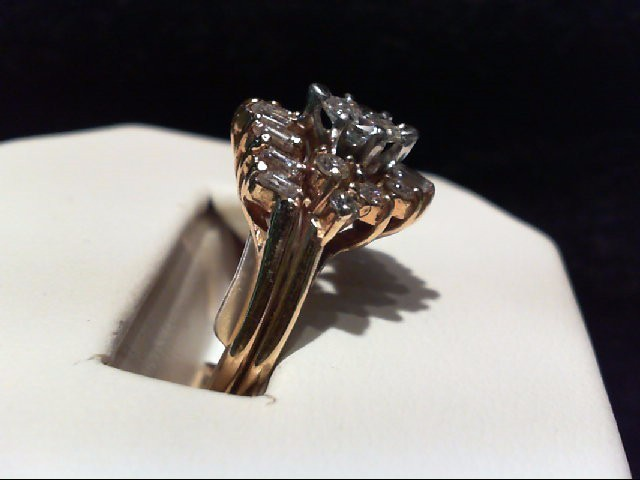 Lady's Diamond Wedding Set 17 Diamonds 1.00 Carat T.W. 18K Yellow Gold 5.74g
