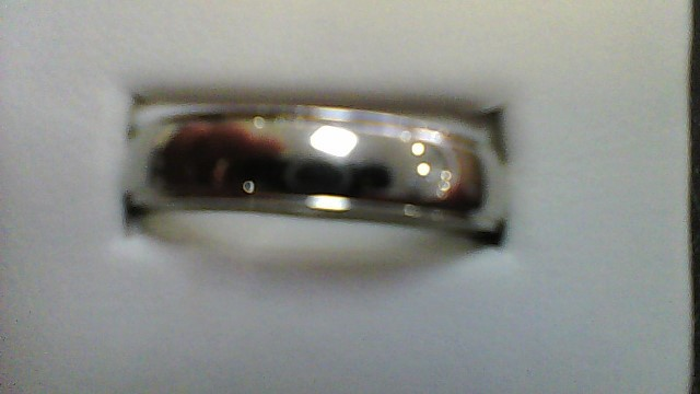 gent's 14k white gold sz 15 wed band 8g