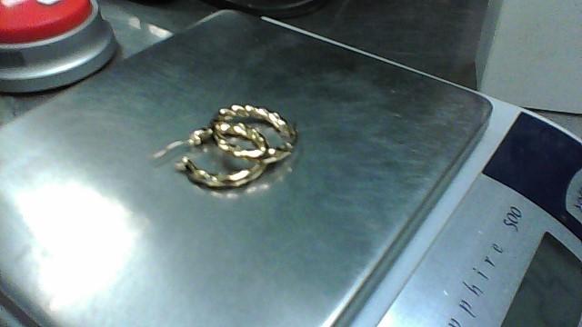 Gold Earrings 14K Yellow Gold 2.4g