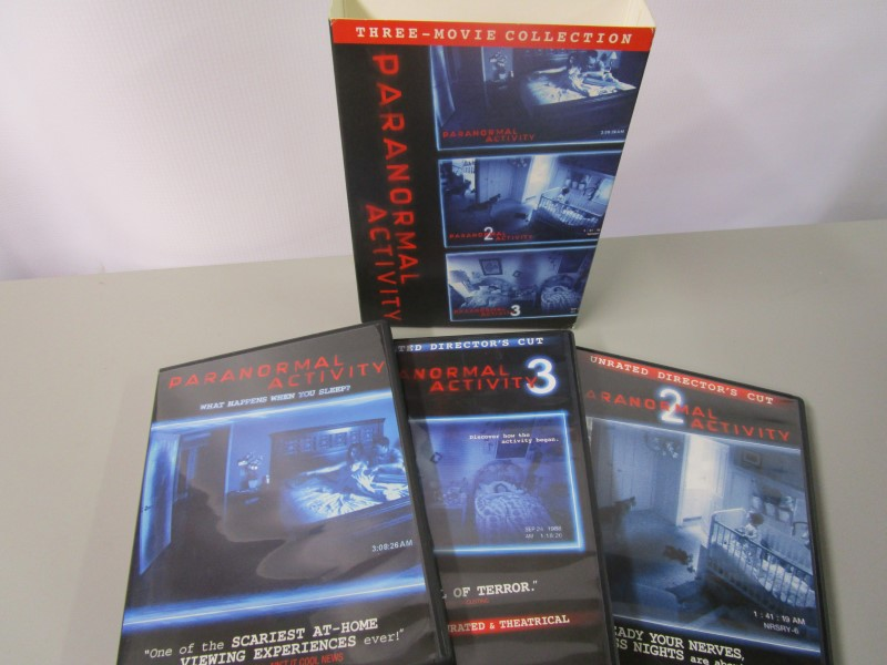 PARANORMAL ACTIVITY TRILOGY DVD BOX SET, MOVIES 1 - 3