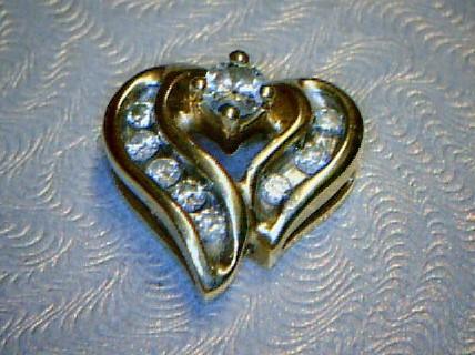 Gold-Diamond Solitaire Pendant 9 Diamonds .26 Carat T.W. 14K Yellow Gold 1.2dwt