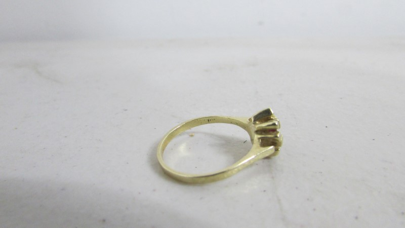 Pink Stone Lady's Stone Ring 14K Yellow Gold 2.27g Size:6