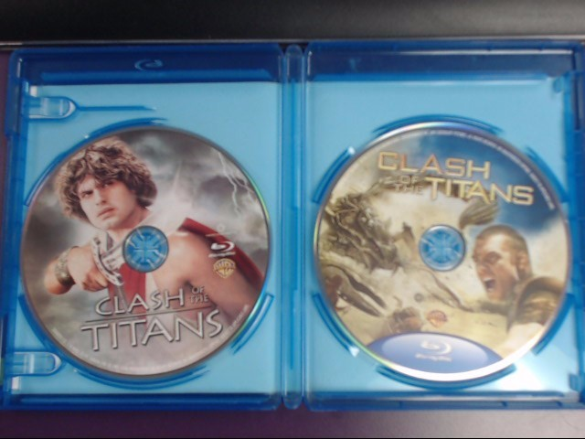 BLU-RAY MOVIE DOUBLE FEATURE CLASH OF THE TITANS *ORIGNAL & REMAKE*