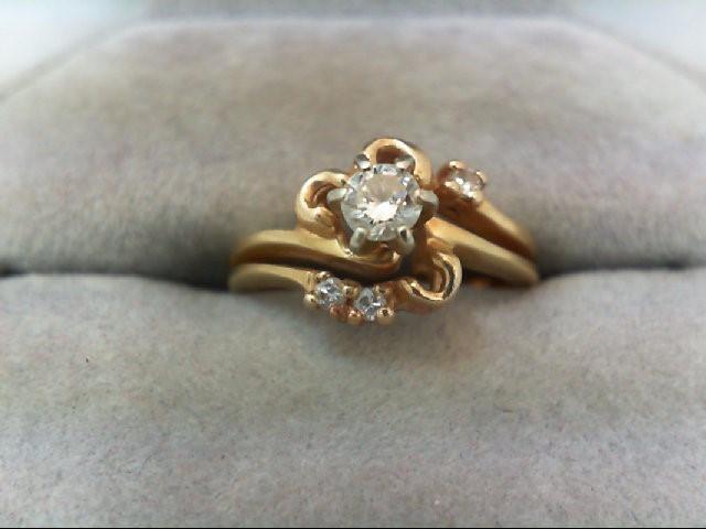 Lady's Diamond Cluster Ring 4 Diamonds .23 Carat T.W. 14K Yellow Gold 3.4g