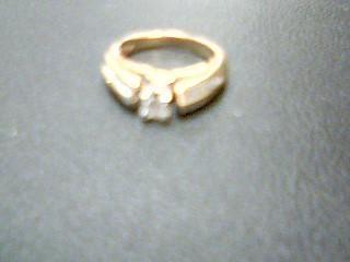Lady's Diamond Wedding Band 21 Diamonds .33 Carat T.W. 14K Yellow Gold 3.6g