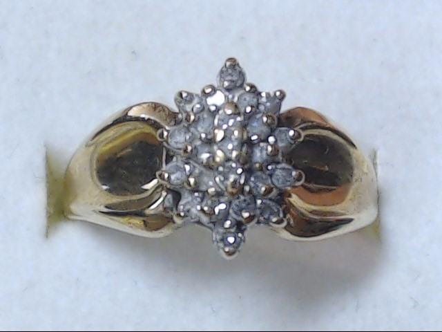 DIAMOND CLUSTER RING JEWELRY, 10