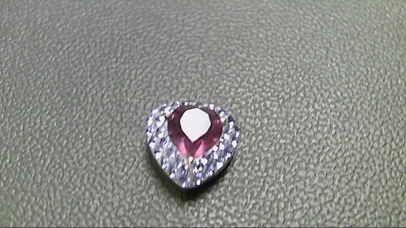 Purple Stone Silver-Stone Pendant 925 Silver 3.1g