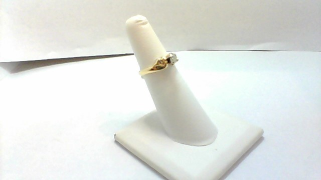 Lady's Diamond Solitaire Ring 3 Diamonds .25 Carat T.W. 14K Yellow Gold 3.2g