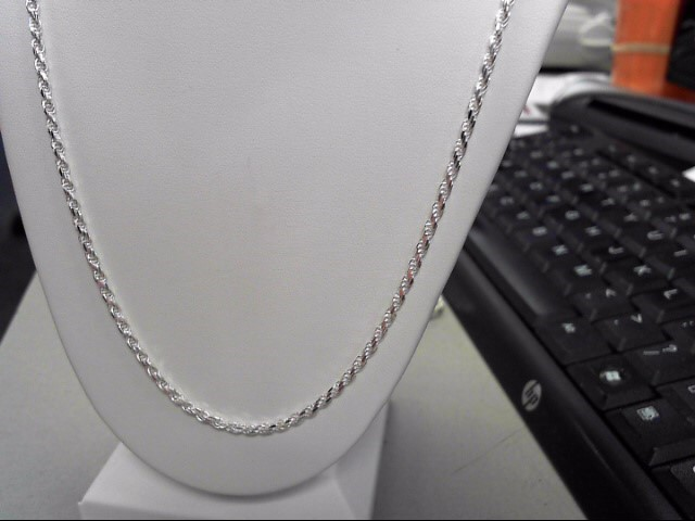 """20"""" Silver Rope Chain 925 Silver 9.6g"""