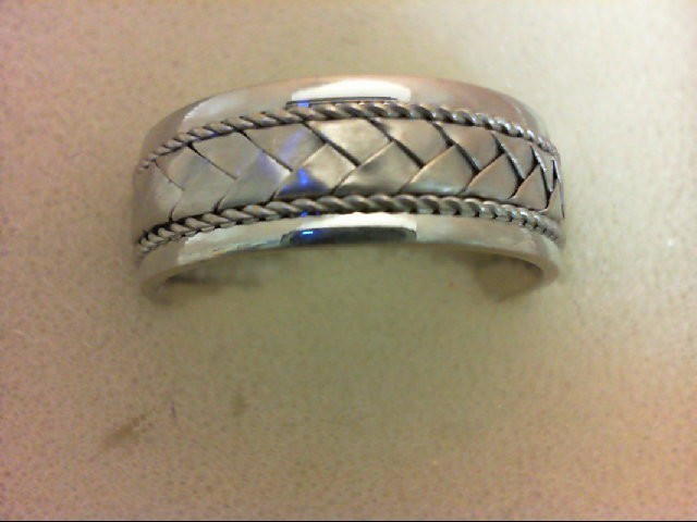 Gent's Gold Ring 14K White Gold 7.2g Size:8
