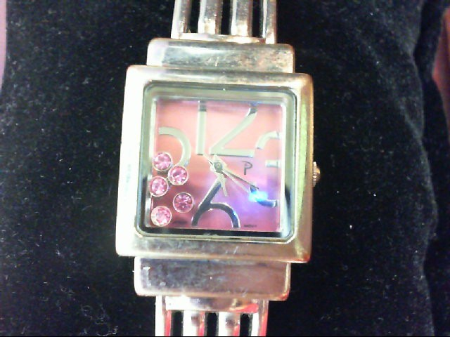 PINK  BANGLE WATCH