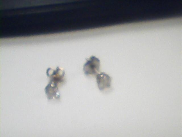 Gold-Diamond Earrings 2 Diamonds .50 Carat T.W. 14K Yellow Gold 1dwt