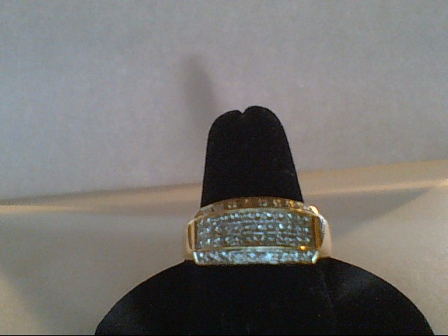 Lady's Diamond Wedding Band 54 Diamonds 1.62 Carat T.W. 14K Yellow Gold 6.9g