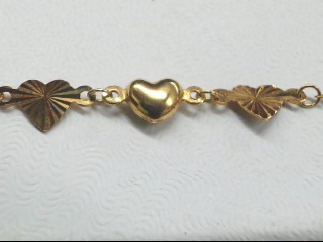 Gold Bracelet 10K Yellow Gold 0.6g