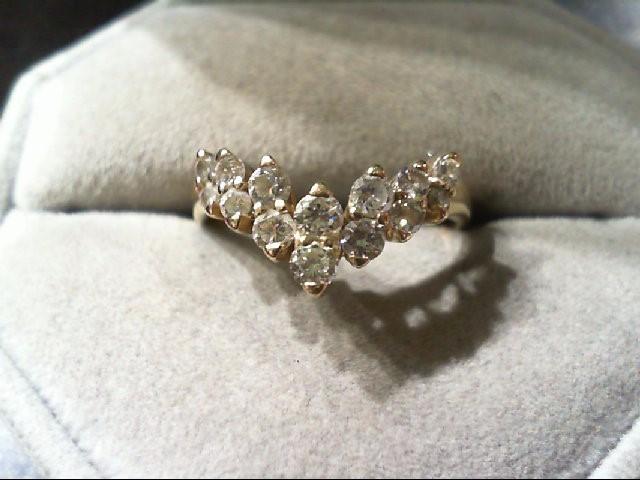 Lady's Diamond wedding band 14 Diamonds .56 Carat T.W. 14K Yellow Gold 3.1g