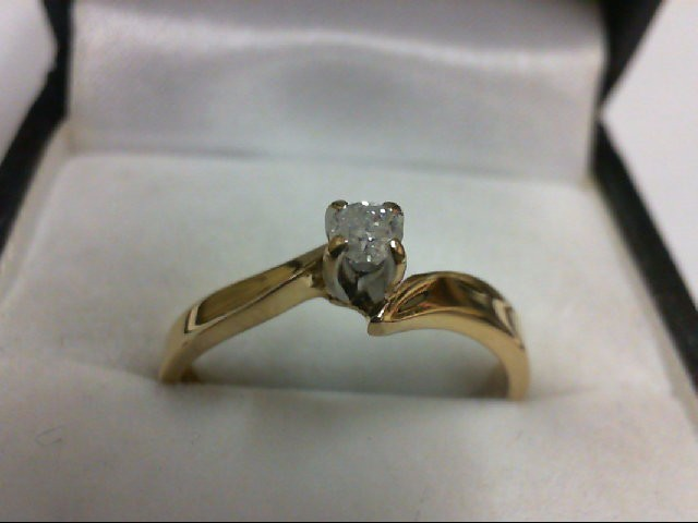 Lady's Diamond Solitaire Ring 0.1 CT. 10K Yellow Gold 2g