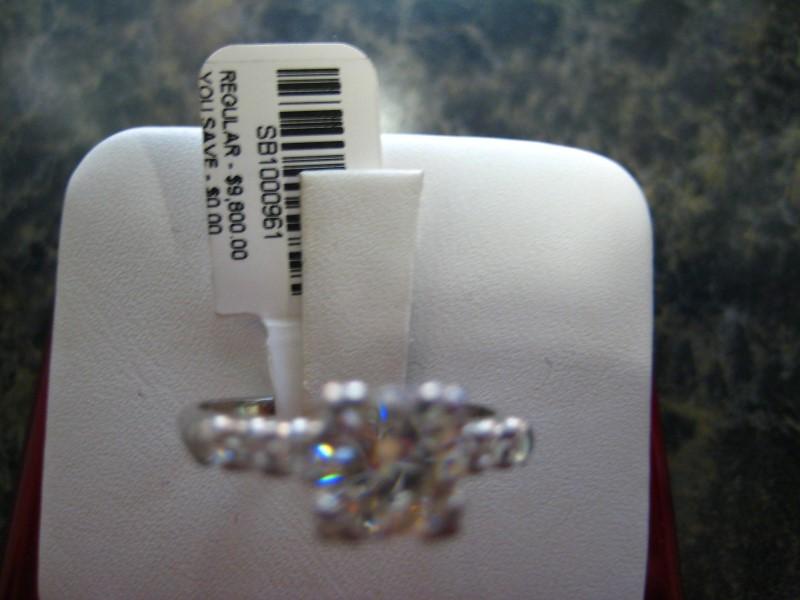 Lady's Platinum Ring 950 Platinum 3.9g