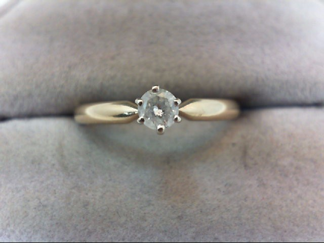 Lady's Diamond Solitaire Ring .20 CT. 14K Yellow Gold 2.3g