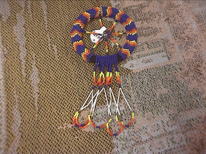 MISC NATIVE AMERICAN MISC USED MERCH MISC USED MERCH; BEADED MIRROR ORNAMENT