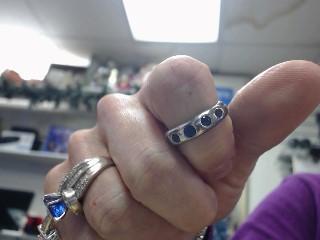 Tanzanite Lady's Silver & Stone Ring 925 Silver 3dwt