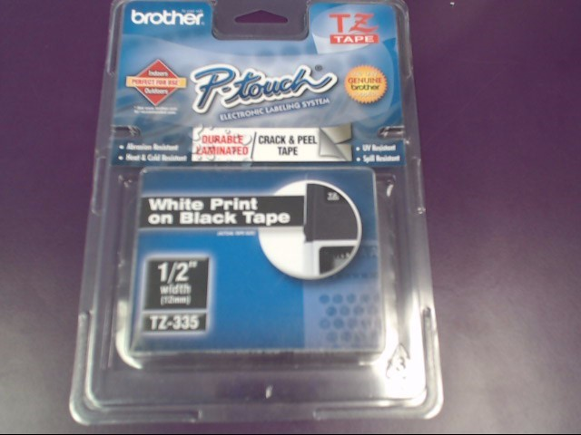 """BROTHER P-TOUCH LABEL REFILL 1/2"""""""