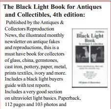 JOBE 4301; THE BLACK LIGHT BOOK FOR ANTIQUES AND COLLECTIONS 4TH EDITION BOOK