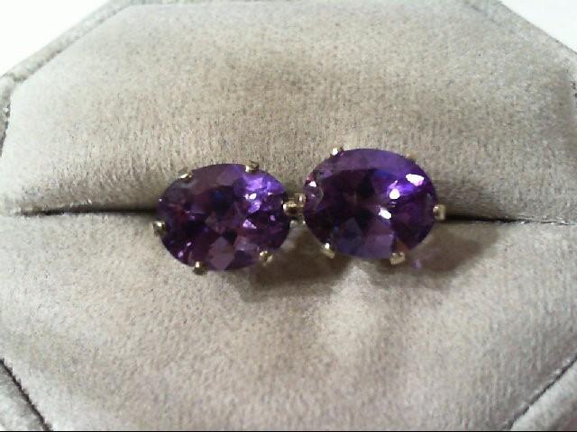 Amethyst Silver-Stone Earrings 925 Silver 2.2g