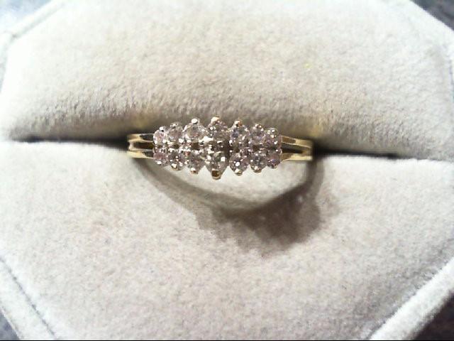 Lady's Diamond Wedding Band 12 Diamonds .22 Carat T.W. 14K Yellow Gold 1.8g